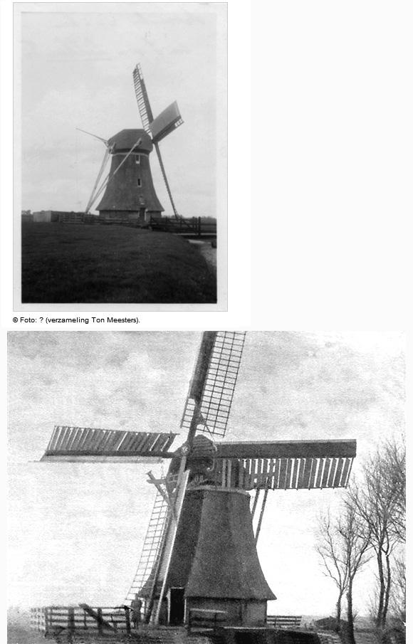 Bullemûne / De Bullemolen, Lekkum, De molen met op één roede zelfzwichting. Foto: n.b. (verzameling Rob Pols).