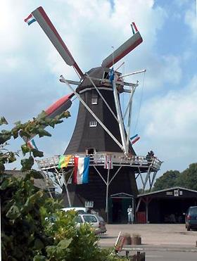 De Hoop, Norg, De Hoop draaiend tijdens het 150-jarig bestaan. <br> Foto: Germ Geersing (25-8-2007).