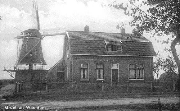 De Hoop, Wachtum, De Hoop in heel vroeger tijden! Foto: ? (collectie dhr. H. Blaauw / Jerry Vondeling).