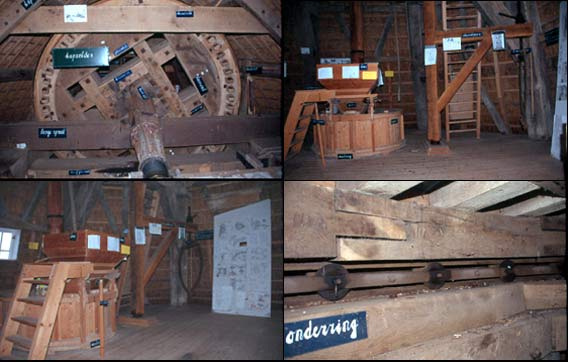 De Hoop, Sleen, De Hoop is voorzien van een label-systeem dat voor de instructie van de bezoeker de diverse onderdelen per stuk benoemt.Foto: W. Jans (26-10-2001).