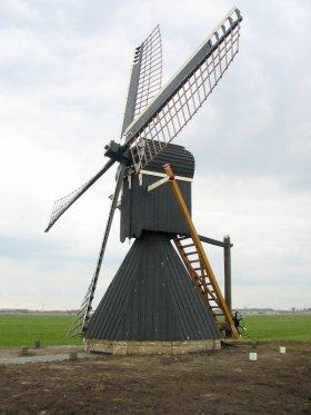 Mellemolen, vh. Polslootpoldermolen, Akkrum, Foto: Willem Jans (27-3-2004).