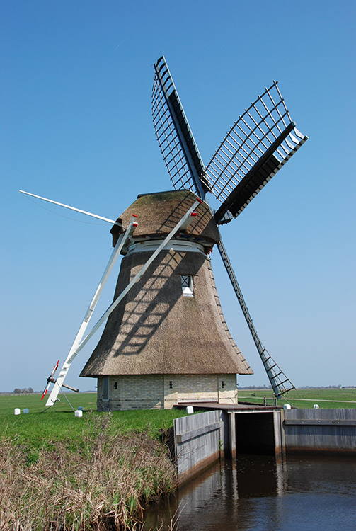 De Borgmolen, Grou (Grouw), Foto: Harmannus Noot (10-04-2012)