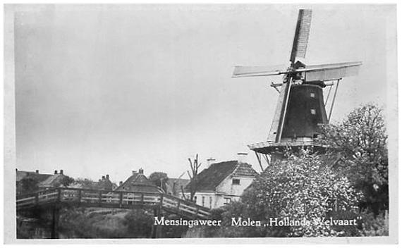 Hollands Welvaart, Mensingeweer, Foto: n.b. (verzameling Rob Pols).