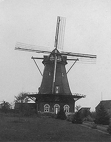 (stellingmolen), Katwijk-Linden, Foto vóór 1957. (verzameling Ton Meesters).