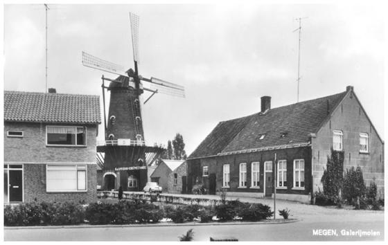 Desiré , Megen, Foto: ? (verzameling Ton Meesters). De molen in 1965.