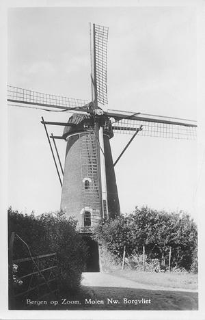 De Twee Vrienden, Nieuw-Borgvliet, Foto: ? (verzameling Ton Meesters).  Foto van omstreeks 1950.
