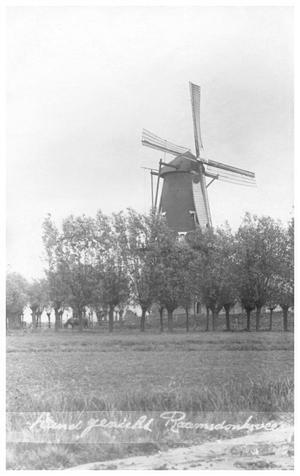 De Onvermoeide, Raamsdonksveer, De situatie in of rond 1905.  Foto: verzameling Ton Meesters.
