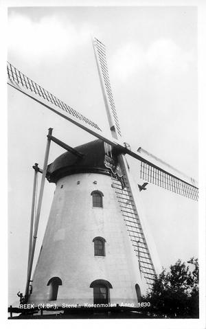 De Hellemolen, Reek, De molen omstreeks 1965.  Foto: ? (verzameling Ton Meesters).