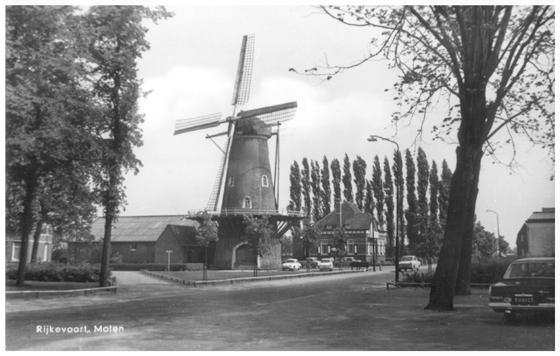 Luctor et Emergo, Rijkevoort, De molen in 1966. Foto: verzameling Ton Meesters.
