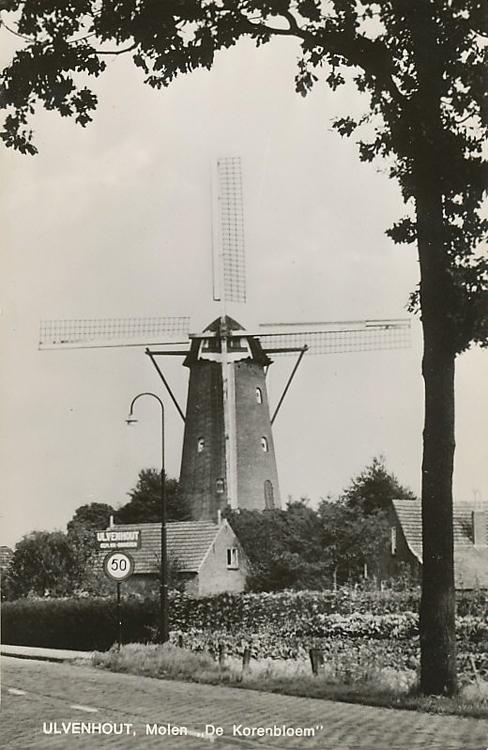 De Korenbloem, Ulvenhout, Ansichtkaart uit 1968, ingezonden door Martin E. van Doornik.