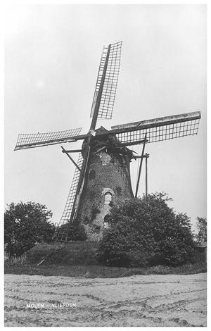 Johanna-Elisabeth, Vlierden, De molen in behoorlijk vervallen staat rond 1965.  Foto: verzameling Ton Meesters.