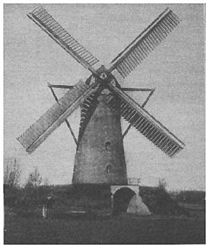 Windlust, Vorstenbosch, Foto uit 1925 van de Windlust met zelfzwichting op beide roeden.  Foto: n.b. (verzameling Rob Pols).