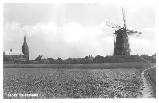 Aarssensmolen / De Dageraad, Zeeland, Foto: n.b. Opname uit ca. 1930 (verzameling Ton Meesters).