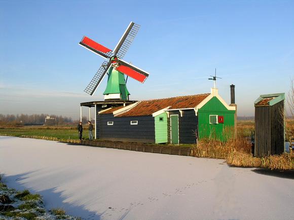 De Windjager, Oostzaan, Foto: Willem Jans (22-12-2007).