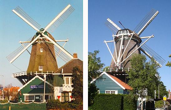 De Dikkert, Amstelveen, Foto links: Jan van der Molen (1999). Foto rechts: Marcel Stroo (30-5-2009).