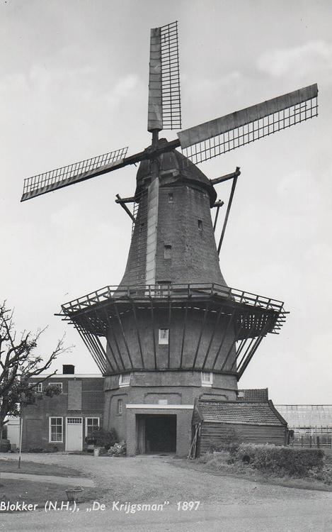 De Krijgsman, Oosterblokker, De Krijgsman nog met het Dekkersysteem. Foto: ansichtkaart (datum onbekend), coll. Arie Hoek.