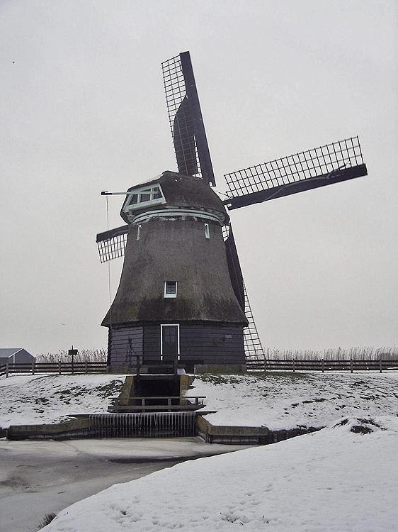 Molen F, Burgerbrug, Foto: Klaas Zaal (16-1-2009).