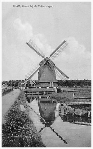 Zuidpoldermolen, Edam, Foto: n.b. (verzameling Rob Pols).