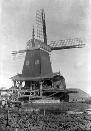 De Eenhoorn, Haarlem-Schalkwijk, De Eenhoorn met zeer luxe uitgevoerde makelaar.  Foto: Th.M. Hoog (1895).