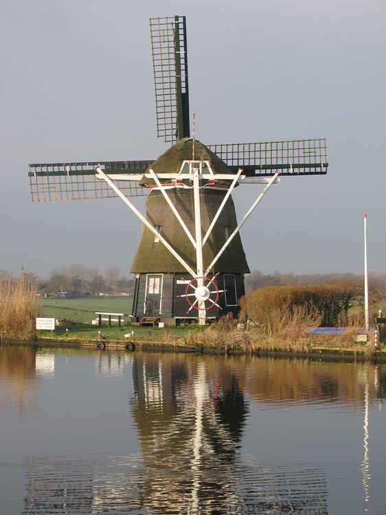De Kleine Molen / De Hommel, Haarlem-Schalkwijk, Foto: Piet Glasbergen (14-1-2013).