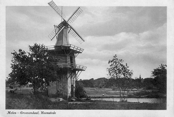 Groenendaalse Molen, Heemstede, Foto: n.b. (verzameling Rob Pols).