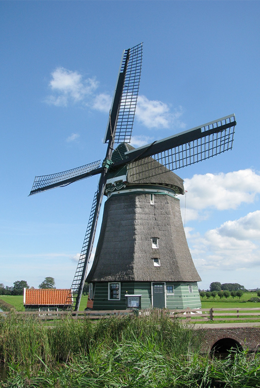 Molen De Lage Hoek, Hoogwoud, Foto: Piet Glasbergen (9-9-15)