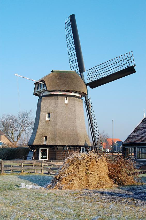 De Sluismolen, Alkmaar-Koedijk, Foto: Rob Pols (30-12-2008).