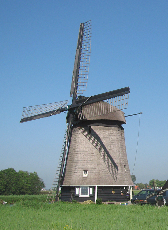 Strijkmolen L, Rustenburg, Foto: Piet Glasbergen (28-5-2012).