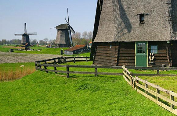 Ondermolen D (Museummolen), Schermerhorn, Foto: Jeroen van Daal (22-4-2005).