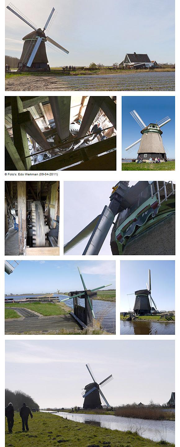 Molen P-V, 't Zand, Foto's: Matthieu Hoogduin (09-04-2011)