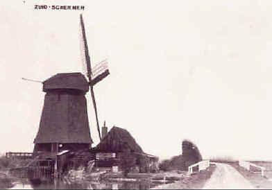 Poldermolen K, Zuidschermer, Molen K voor 1940, De Bloothooft/d Archieven.  Met dank aan Tom van der Stoop.