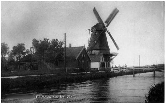 De Hoop, Bunschoten, De oorspronkelijke De Hoop rond 1926.  Foto: n.b. (verzameling Rob Pols).