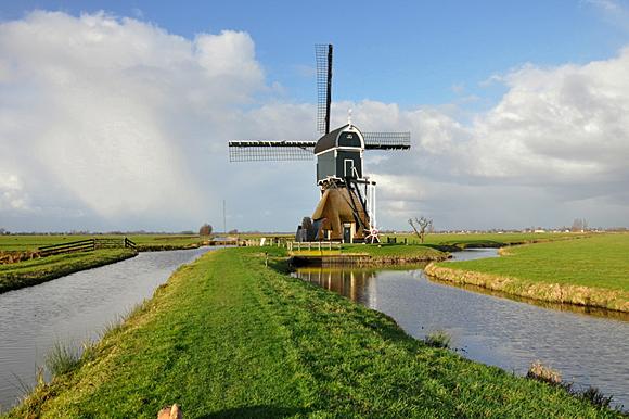 De Middelste of Tweede Molen, Cabauw, Foto: Hans de Ruiter (18-12-2011).