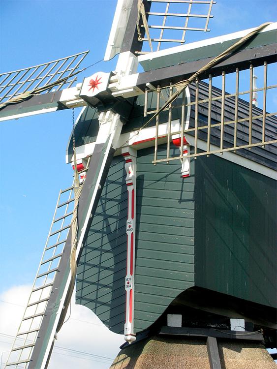 Oukoper Molen, Nieuwersluis, Foto: Piet Glasbergen (4-10-16)