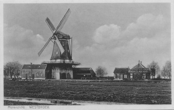 De Kraai, Westbroek, Een volop malende De Kraai in een ver verleden.  Foto: ? (verzameling Ton Meesters).