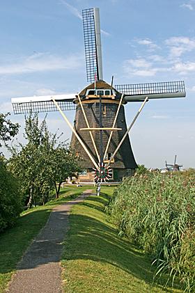 De Hoge Molen, Nieuw-Lekkerland, Foto: Ton Koorevaar (20-8-2009).