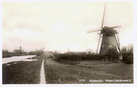 Nederwaard Molen No.1, Kinderdijk, Foto: Verzameling J. Hoek.
