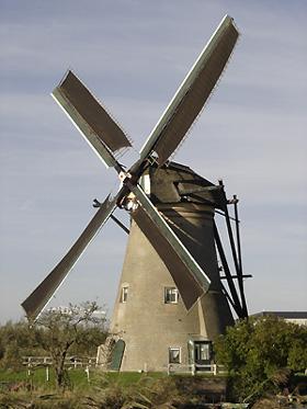 Nederwaard Molen No.1, Kinderdijk, Foto: L.A. van der Meijden (27-10-2005).