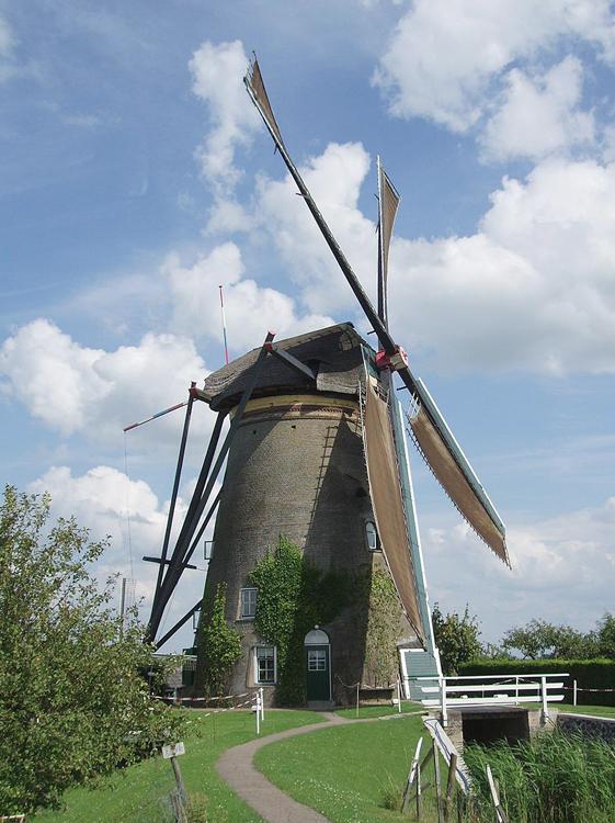 Nederwaard Molen No.3, Kinderdijk, Foto: Jeroen van Dijke (zomer 2012).