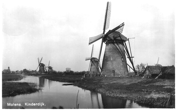 Nederwaard Molen No.4, Kinderdijk, Foto: n.b. (verzameling Rob Pols).