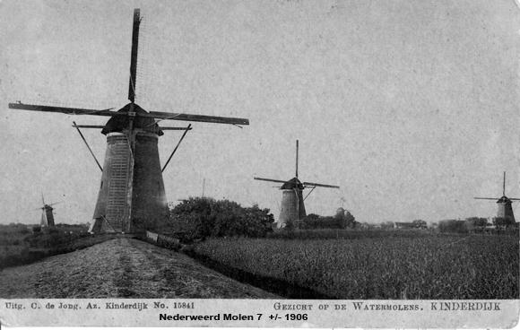 Nederwaard Molen No.7, Kinderdijk, Foto: Verzameling J. Hoek.