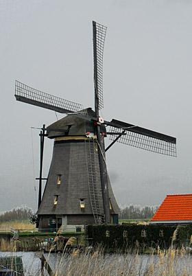 Overwaard Molen No.1, Kinderdijk, Foto: Mark Remmerts (5-4-2010).