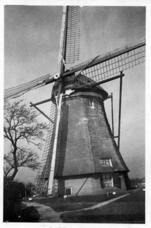 Overwaard Molen No.2, Kinderdijk, De originele molen rond 1940.  Foto: ? (verzameling Ton Meesters).