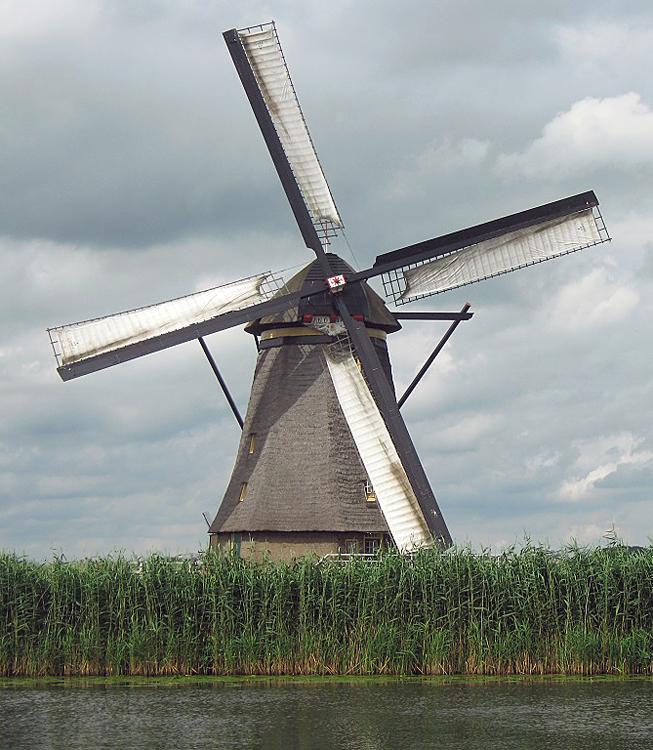 Overwaard Molen No.4, Kinderdijk, Foto: Abel van Loenen (27-7-2013).