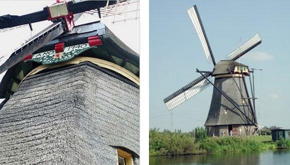 Overwaard Molen No.5, Kinderdijk, Foto's: Joop Vendrig (13-9-2002).