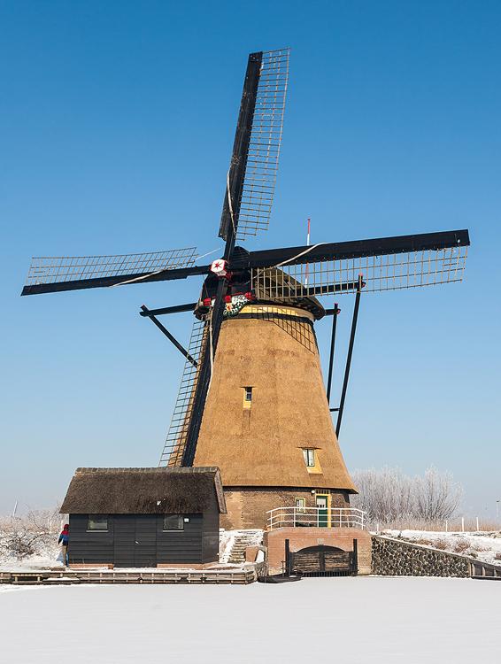 Overwaard Molen No.5, Kinderdijk, Foto: Bram van Broekhoven (4-2-2013).