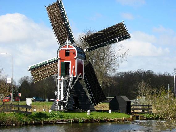 Kikkermolen, Leiden, Foto: Philip Pijnnaken (2003/2004?).