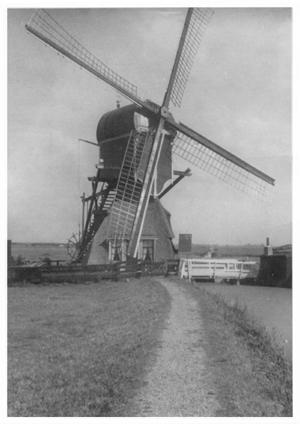 Achthovense Molen, Leiderdorp, Foto: ? (verzameling Ton Meesters).