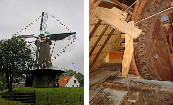 De Korenaer / Prins Maurits, Den Haag-Loosduinen, Foto links: Irmo Snoek (25-6-2011) - Foto rechts: Toby de Kok (12-8-2006).