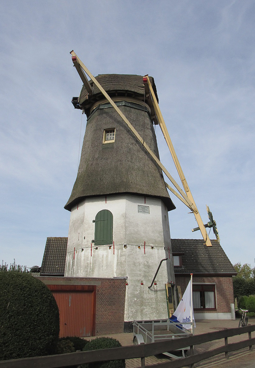 De Hoop, Maasdam, Foto: Abel van Loenen (18-10-2014). De onttakelde molen wachtend op restauratie.